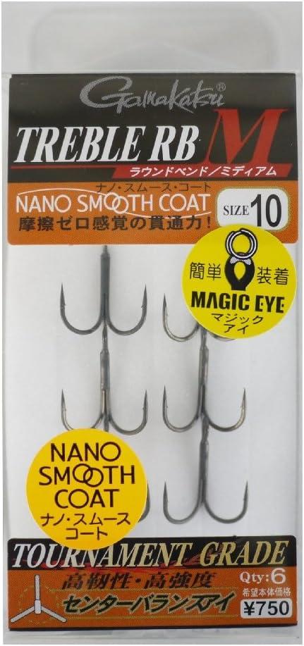 Gamakatsu Treble Hook RB M Nano Coat Size 10 4622