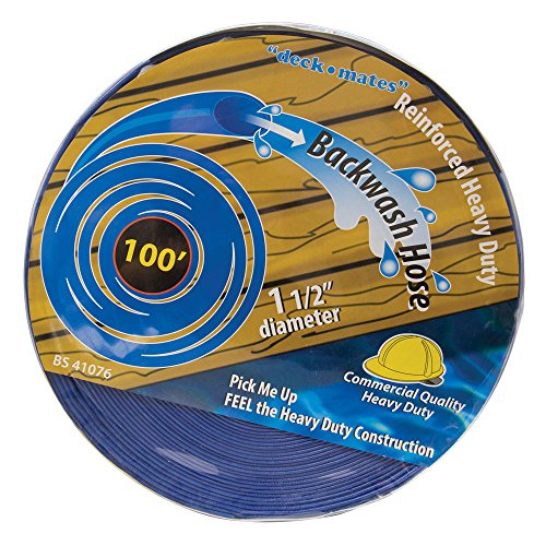 100 Pool - Blue Torrent BS 41076 Commercial Backwash Hose for Swimming Pools, 100' x 1.5