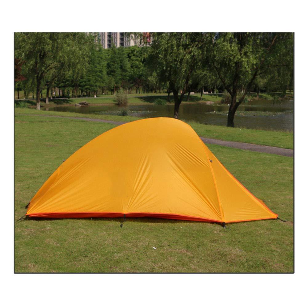 Zelt, Outdoor 2 Person Ultraleicht Wandern Camping Zelte Doppelschicht Doppelschicht Doppelschicht Regen Wasserdicht Tragbare Reisezelt (Farbe : Gelb, Größe : 270x 125 x100cm) b3dc18