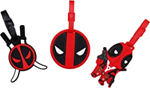 Set of 3 - Super Cute Kawaii Cartoon Silicone Travel Luggage ID Tag for Bags (Deadpool 2)