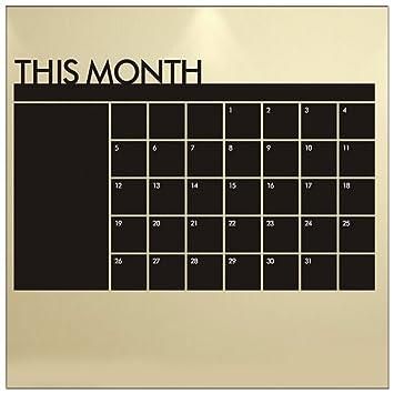 Amazon.com: Agenda Calendario Mensual pizarrón calcomanía ...