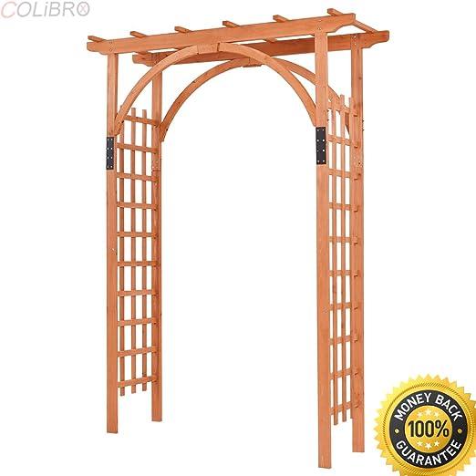 COLIBROX - Arco de Madera de Cedro para Exteriores Arco de jardín ...