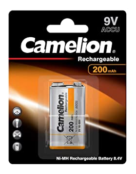 Camelion NH-9V200BP1 Rechargeable Battery Níquel-Metal hidruro (NiMH) - Pilas (Rechargeable Battery, Níquel-Metal hidruro (NiMH), 9 V, 1 Pieza(s), 200 ...
