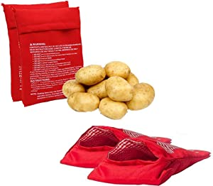 vipolish 4Pcs Microwave Potato Bag Reusable Microwave Cooker Bag Baked Potato Pouch Perfect Potatoes in Just 4 Minutes
