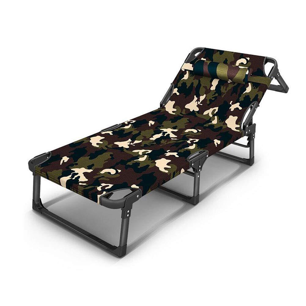 RMJAI いす サンラウンジャーリクライニング折りたたみガーデン屋外テラスゲストベッドシート折りたたみチェア デッキチェア (Color : B) B07SQY65CS B