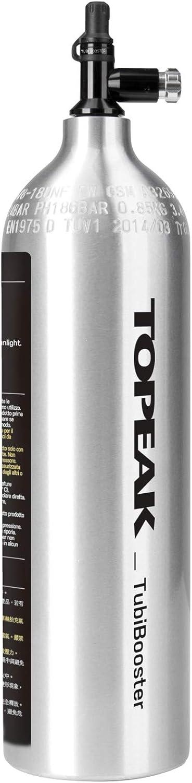 Topeak Unisexs Tubibooster X Pump Silver OneSize