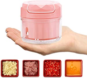 Mini Food Processor, Food Chopper Kitchen Aid, Mini Blender, Kitchen Aid Small Food Processor (Pink)
