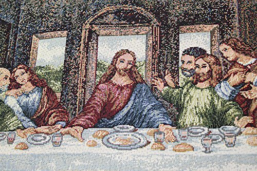 The Last Supper III Italian Woven Tapestry