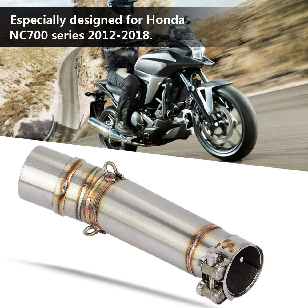 51mm Motorcycle Exhaust Muffler Middle Pipe Mid Connector for NC700S NC700X CTX700 NC750S Motorcycle Exhaust Pipe