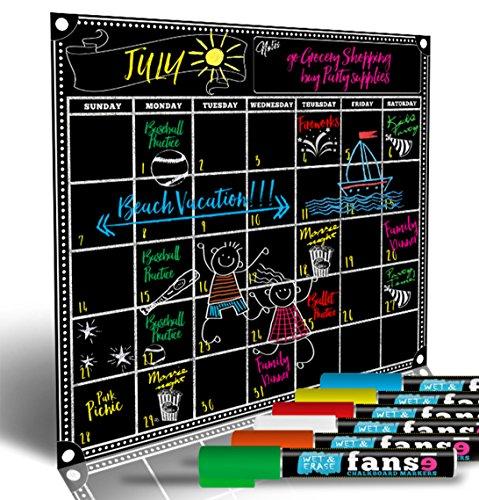 Fanse Large Magnetic Chalkboard Calendar And Liquid Chalk Marker Set 18  X 14    Monthly Planner Blackboard Organizer Agenda Memo For Home  Grocery  Kitchen Refrigerator  Classroom  Dorm Room