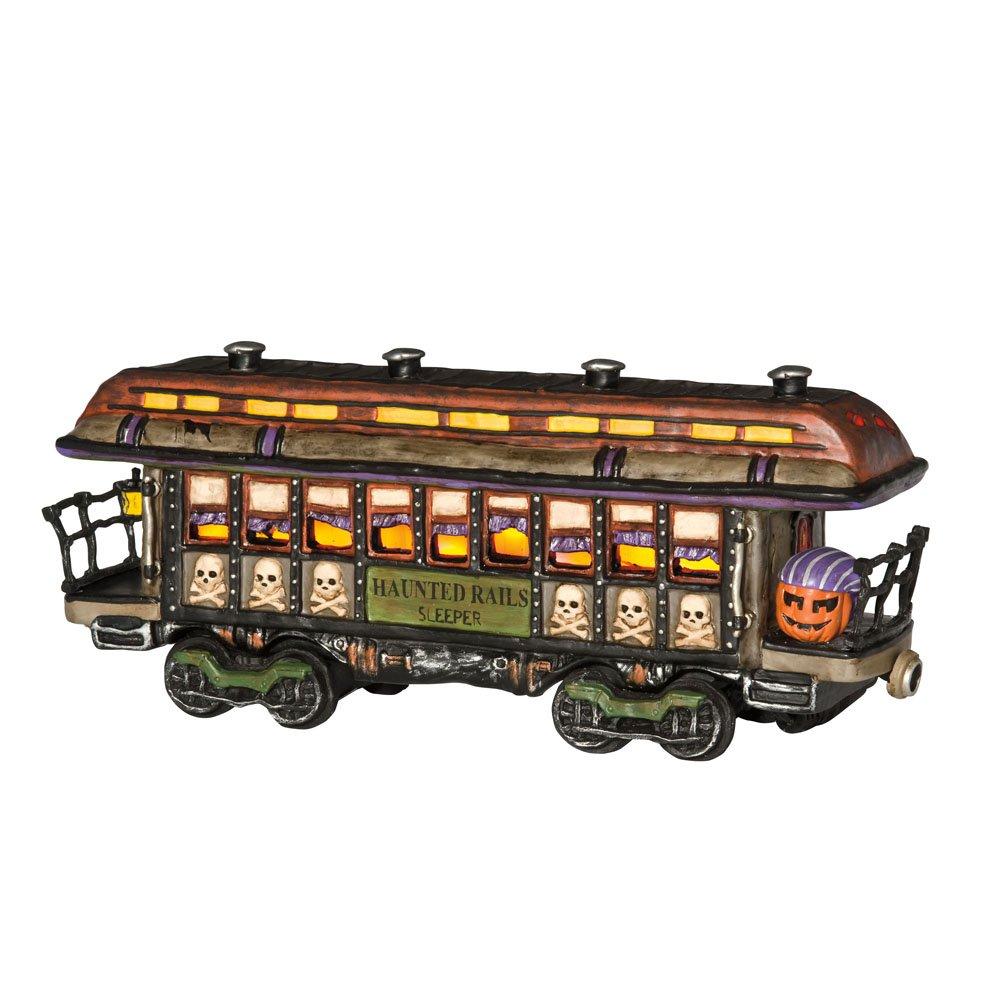 Department 56 Snow Village Halloween 10th Anniversary Haunted Rails Passenger Car Lit House