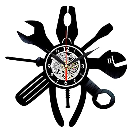 Tool Vinyl Clock - Handyman Gifts - Craftsman Wall Decor - Workshop Decorations