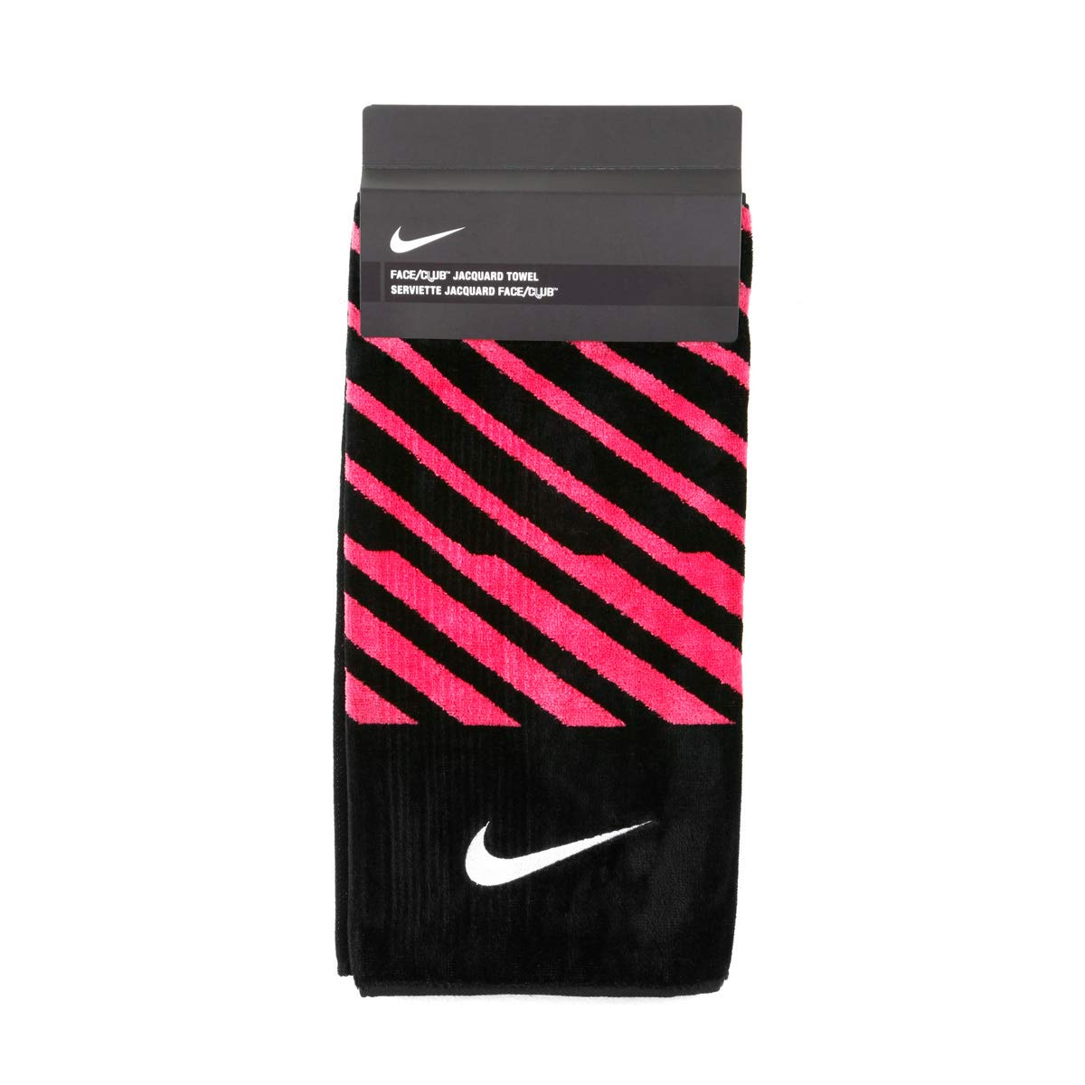 Nike Closeout Face/Club Jacquard Towel - Black/Pink by Nike
