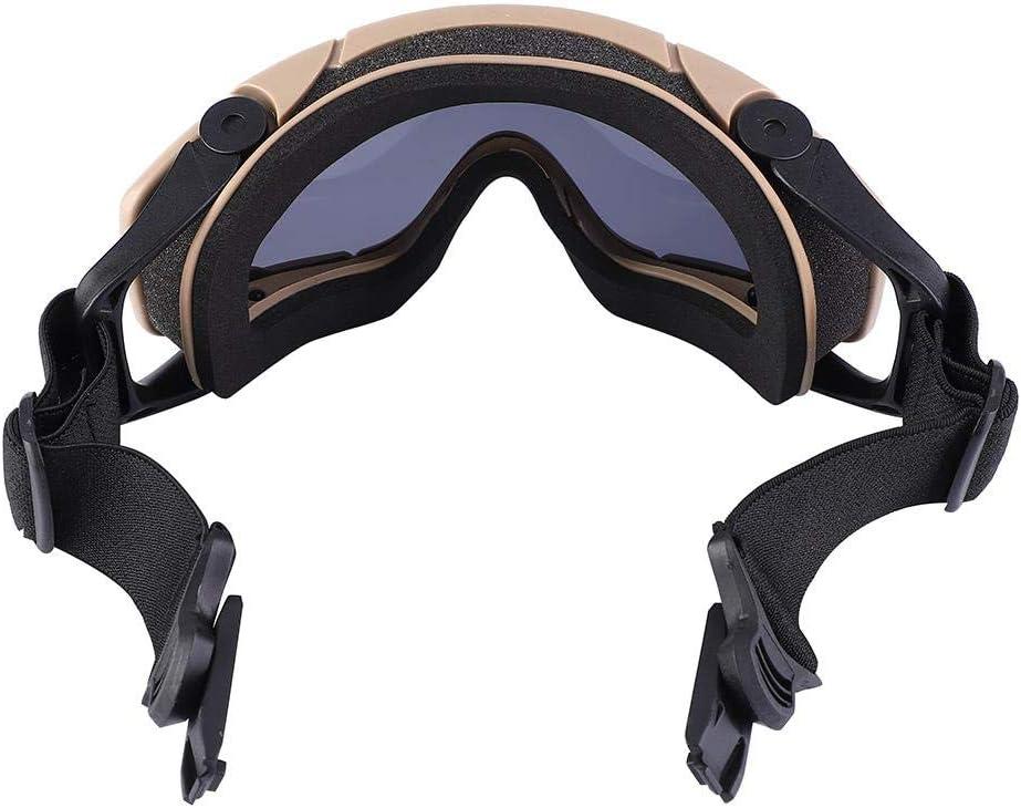 Tbest Gafas T/ácticas,Gafas Protectoras UV Gafas Casco Airsoft Gafas Antivaho Bal/ística Paintball Protecci/ón para los Ojos A Prueba de Polvo Gafas de Seguridad para Esqu/í Bicicleta Correr Ciclismo