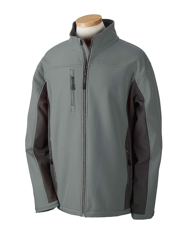 CHARCOAL//DK CHARCOAL XL Devon /& Jones Mens Soft Shell Colorblock Jacket