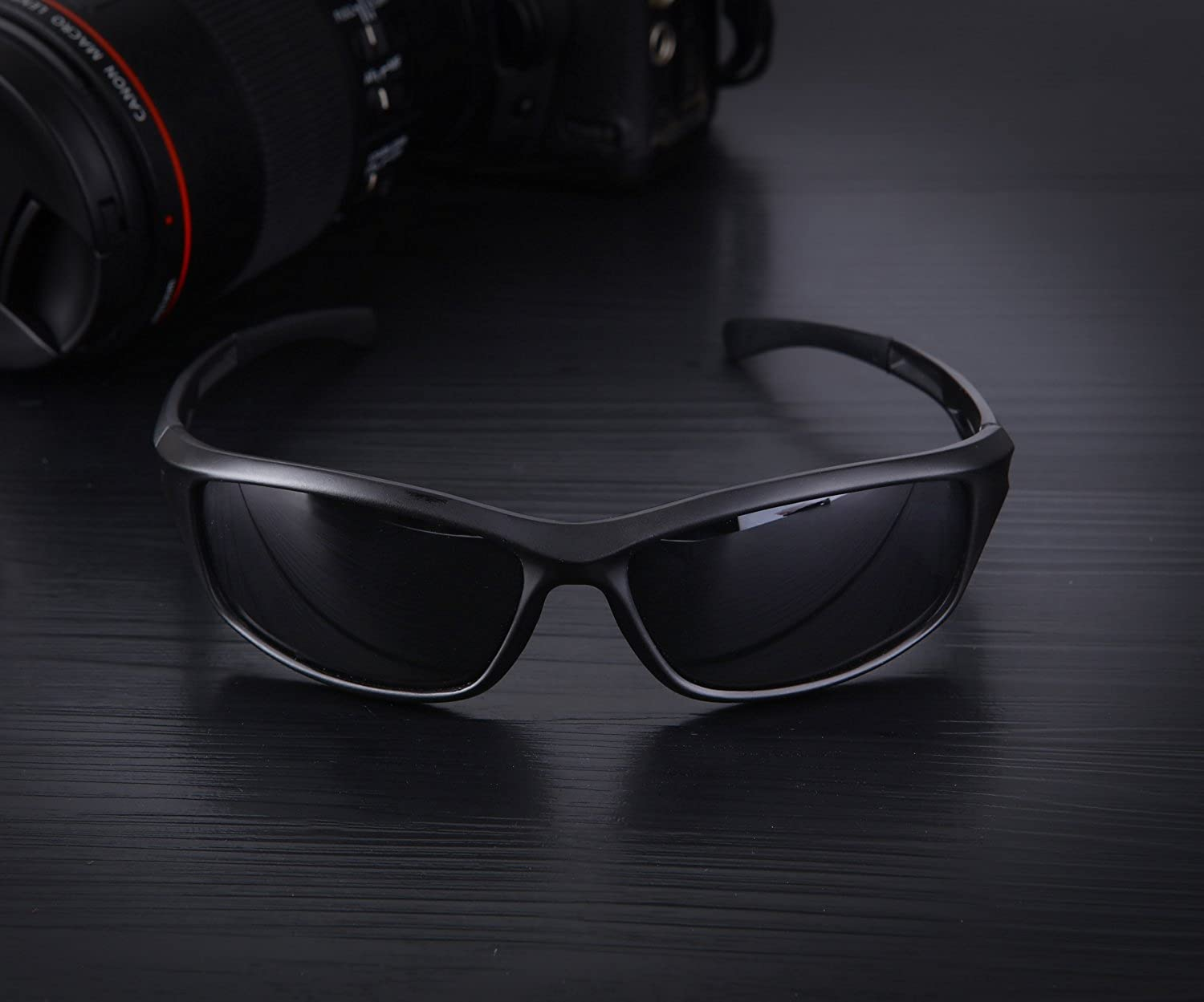 f5b07a7f3d4 BRIGADA Polarized Cool Black Fashion Driving Sport Sunglasses for Men to Keep  Safe   Cool