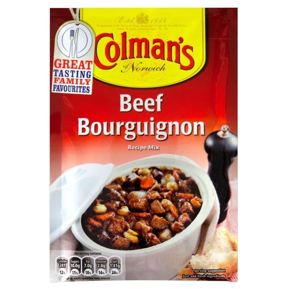 Colman's Beef Bourguignon Sauce Mix (40g) - Pack of 6