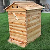 Honey Flow Beehive Wooden Box,Bee Hive House fit for 7pcs Auto flow frames