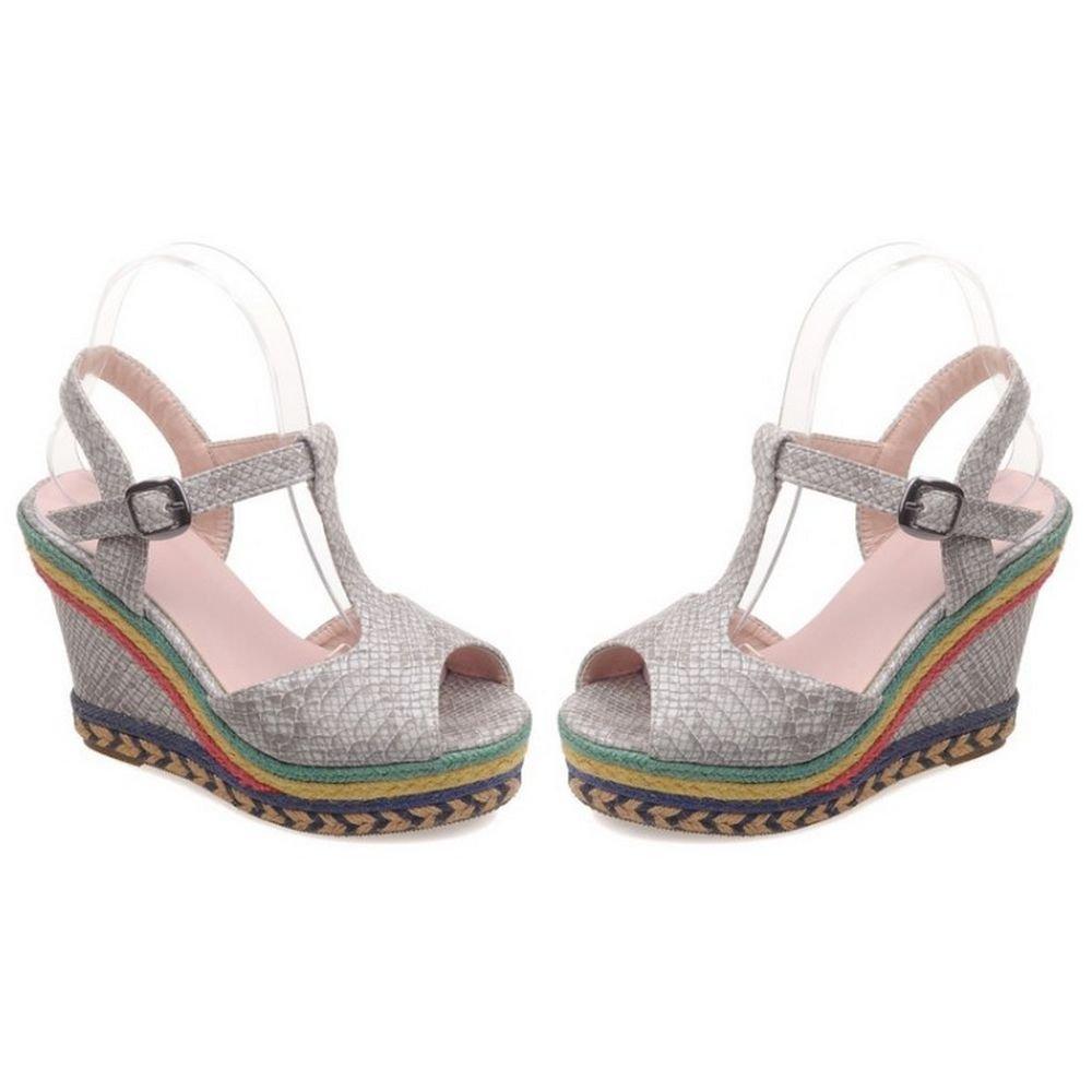1338898f002 ... LongFengMa Women Wedges Platform High Heel Sandals Peep Toe Flatform Wedges  Women Shoes B01HMTACK4 US7