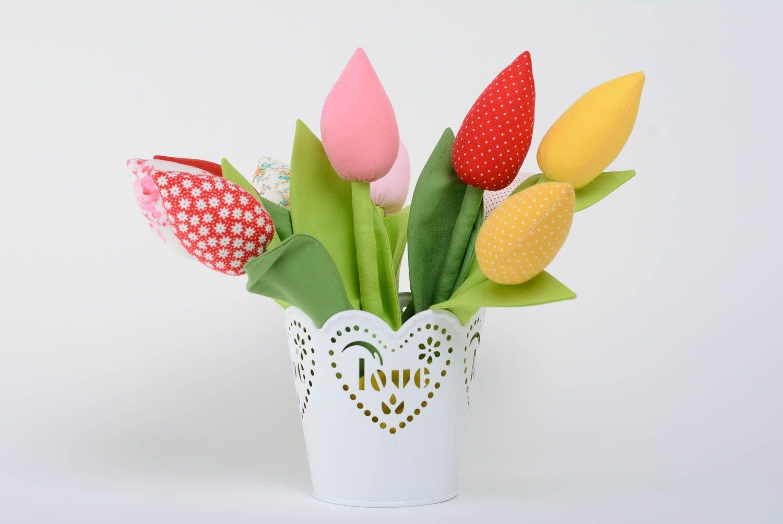 Flor decorativa artificial de tela con forma de tulipa hecha a mano original: Amazon.es: Juguetes y juegos
