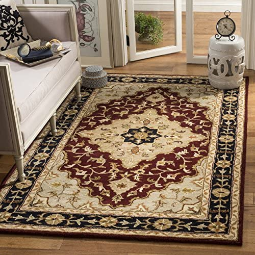 Safavieh Heritage Collection HG760B Handcrafted Traditional Oriental Red and Black Wool Area Rug 8 3 x 11