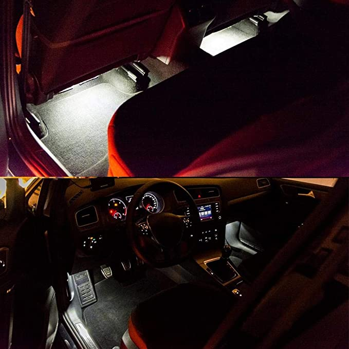 luce ambiente interna luce vano piedi con cablaggio adatto per 5G MK6 MK7 B7 B8,5G0947409 EBTOOLS 2 pezzi luci vano piedi a LED