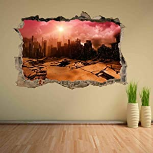 Earthquake Natural Disaster Wall Stickers Mural Decals Home Office Decoration CF2