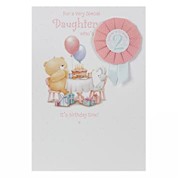 Hallmark Forever Friends 2nd Birthday Card For Daughter Cuddles And Kisses