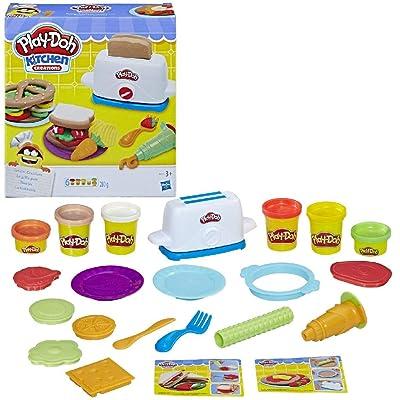Play-Doh PLAYDOH E0039EU4 Kitchen Toaster Creations, Multicolour: Toys & Games