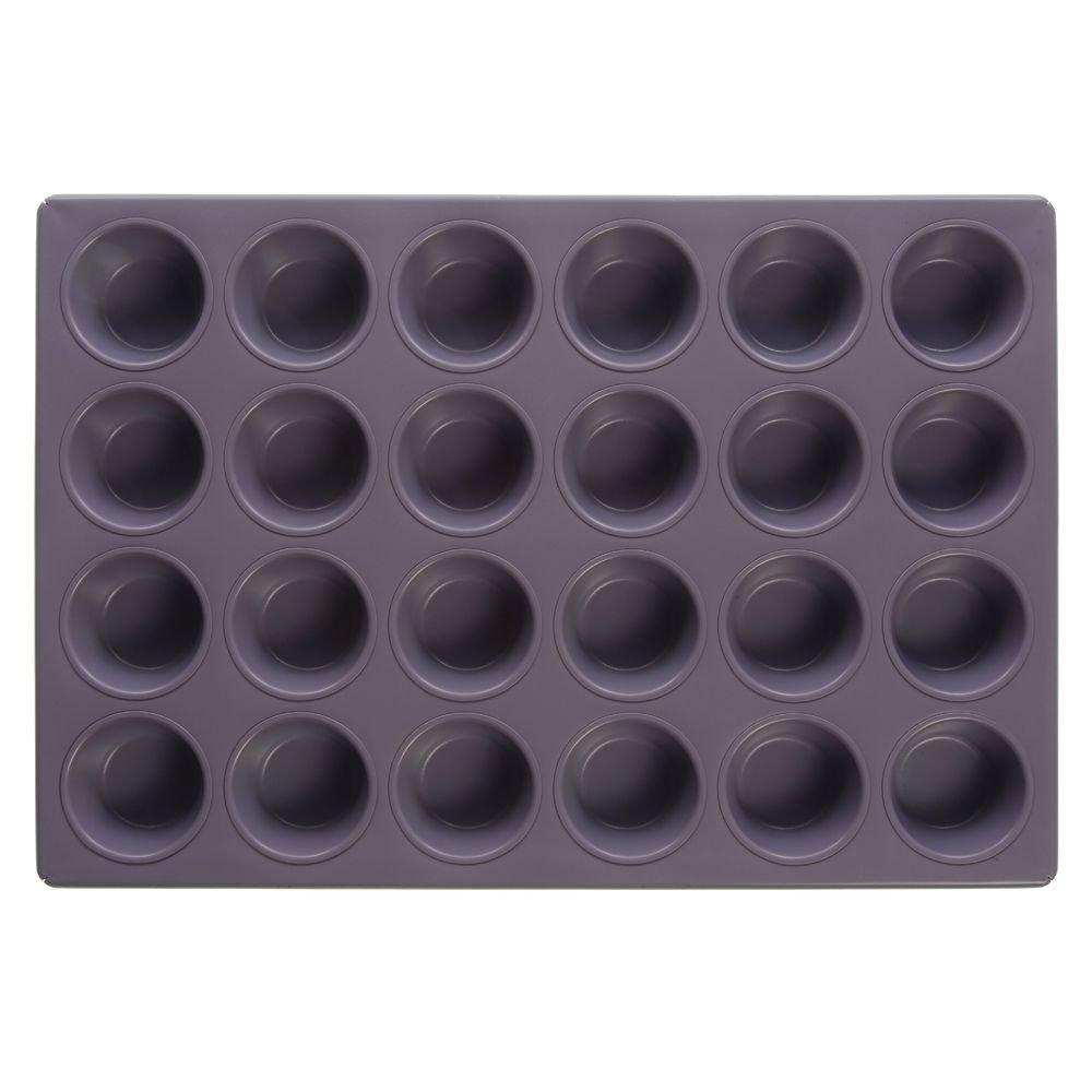 Expressly HUBERT Metal Allergen Awareness Muffin Pan with Purple DuraShield Coating - 20 11/16''L x 14 1/8''W x 1 3/8''D