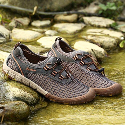 Saguaro Mens Slip-on Loafers Mesh Skor Strand Tillfällig Aqua Vatten Skor Mode Sneakers Mörkgrå