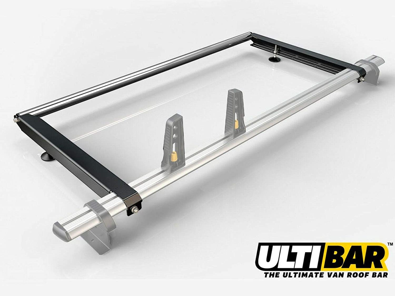 Van Guard ULTI Bar 2 Roof Bars and Rear Ladder Roller Kit for VW Crafter 06-17 MWB, Low Roof