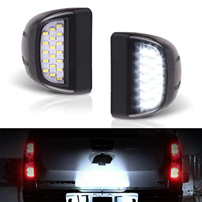 Heart Horse LED License Plate Light for Chevy Silverado Suburban Tahoe GMC Sierra Yukon Error Free License Plate Lamp Assembly White, 2 Pack: Automotive