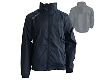 b42555d3c Kappa Pocojack black rain jacket with a hood and for all weather ...