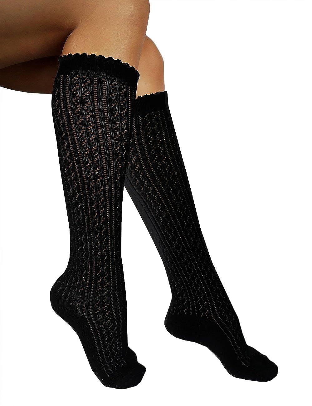 etrado fashion Knie- und Überkniestrümpfe Trachtenstrümpfe für das Oktoberfest