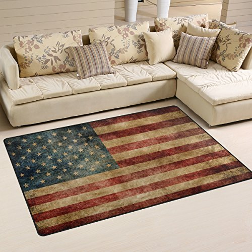 Retro American Flag July 4th Independence Day rug - Independence day home decor