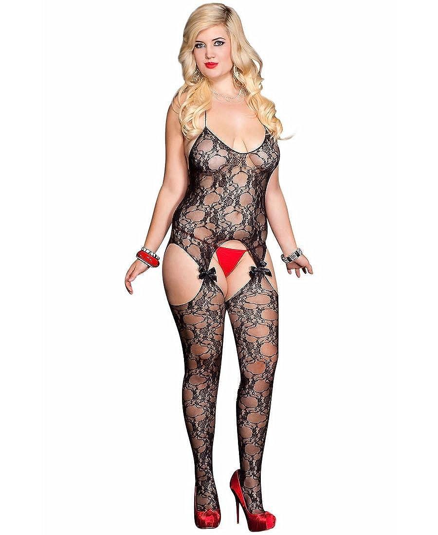9f6f5ebde18 Amazon.com  Lace Suspender Bodystocking  Clothing