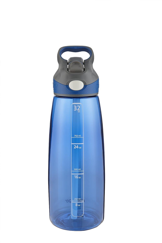 Contigo AUTOSPOUT Straw Addison Water Bottle, 24oz, Citron Ignite USA ADG100A03