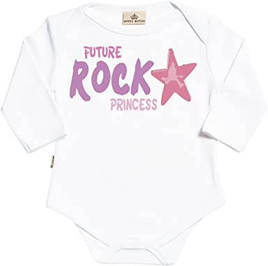 SR - Estuche de presentación - Future Rock Princess Body para bebé niño - Body para bebé niña - Conjunto Regalo del bebé - Blanco: Amazon.es: Ropa y accesorios