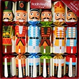 Traditional English Festive and Party Crackers, Handmade British Classic Cracker, Gift Box Set of 6, Nutcracker Tin Soldier Design, Medium, 12-inch