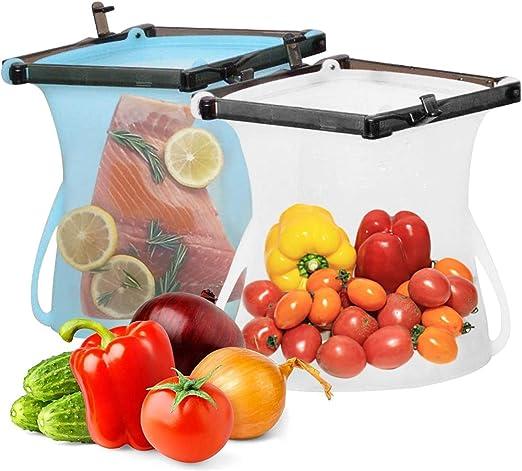 Bolsas de almacenamiento reutilizables para alimentos plegables de ...