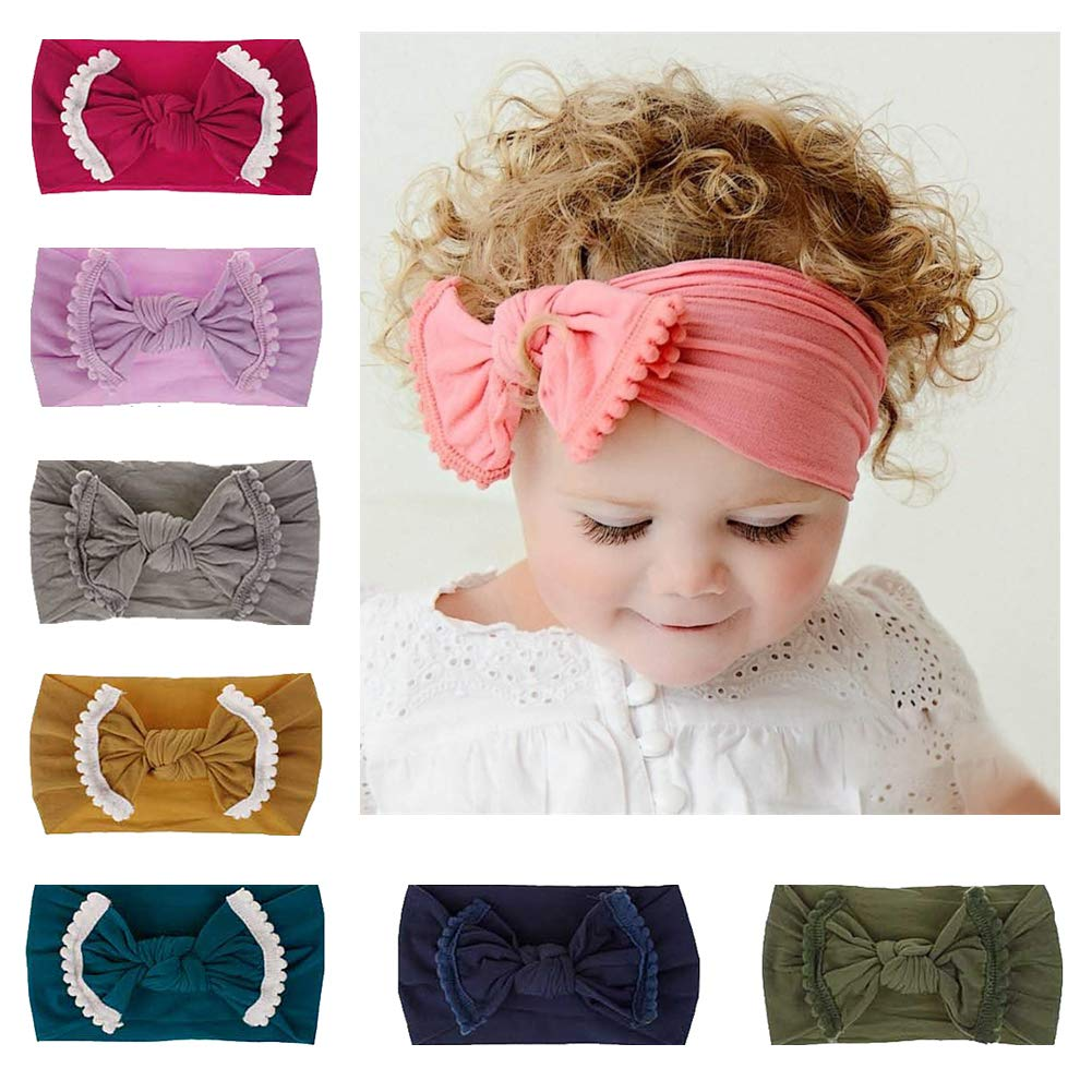 Amazon.com  Lovinglove Baby Girls Headbands Knotted Head Bow for Newborn  and Toddler  Baby b60899661fc
