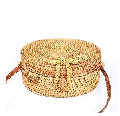 Amazon.com: Bolsa de playa de paja Bali – Bolsas de ratán ...