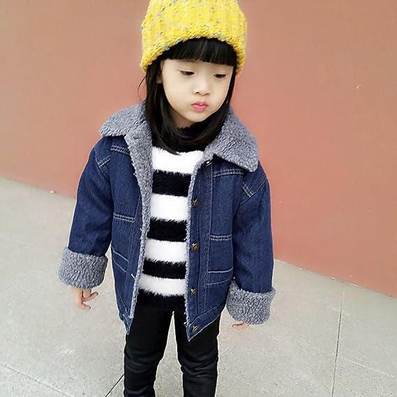 96d4457d1 Amazon.com  KONFA Baby Boys Girls Denim Cotton Padded Button Coat ...