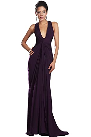 Edressit New Adorable Halter Dark Purple Evening Dress 00130806
