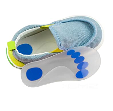 c5297ddb20 Silicone Gel Kids Arch Support Insole - Full Length Children Flat Feet  Orthotic Cushion Inserts, Foot Pronation Shock Absorption Corrector Pads,  ...