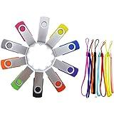 FEBNISCTE 10 pezzi Chiavette USB 2.0 8GB Multicolorato PenDrive 8 GB Girevole Memoria USB