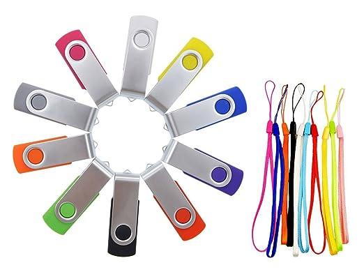 96 opinioni per FEBNISCTE Chiavette USB 4GB,10 pezzi Penna USB 2.0 Multicolorato USB