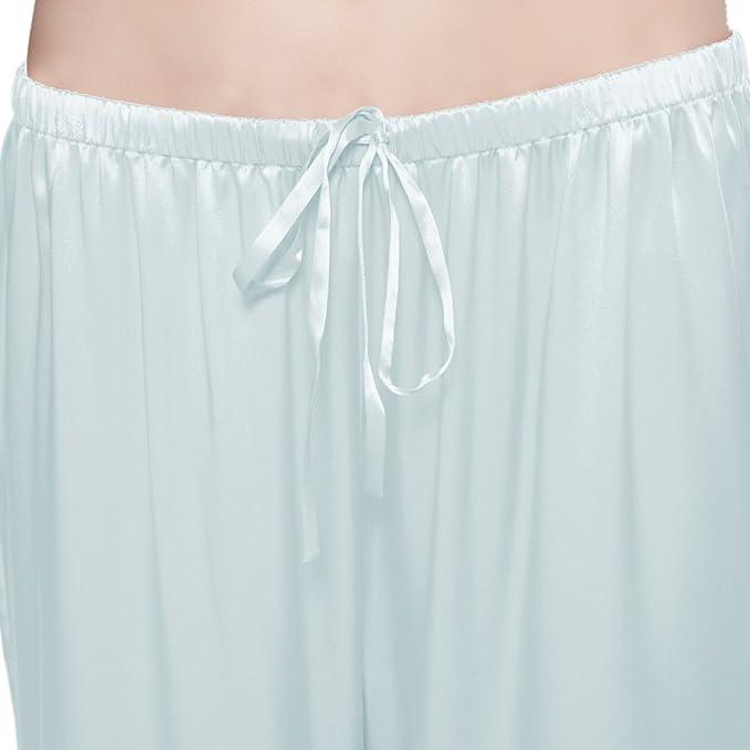 113d94837d Lilysilk Conjunto De Pijamas De Seda Medio Abotonado Frente Celeste Claro  Talla XXL  Amazon.es  Ropa y accesorios