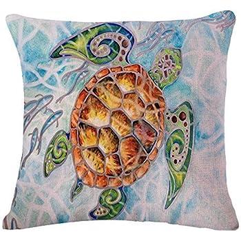 Fantastic Amazon.com: Animal Sea Turtle Wall Cotton Linen Decorative  RN92